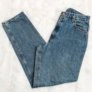 Levi 550 High Waisted Mom Jeans Relaxed Fit